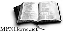 MPNHome.net Logo: an open Bible image with identifying wording